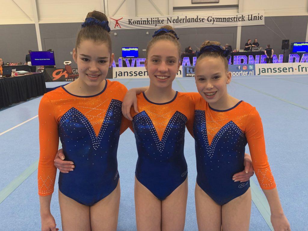 V.l.n.r.: Romy Schepens, Celeste Canaan, Guylene Brunneman